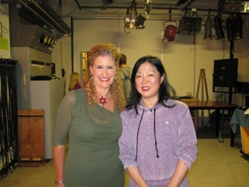 Jodi and Margaret Cho on set of Twin Cities Live