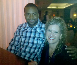 Jodi with Denard Span of the MN Twins.