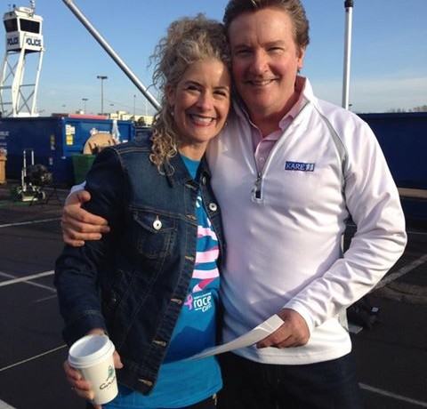 KARE 11's Pat Evans & Jodi at Race for the Cure