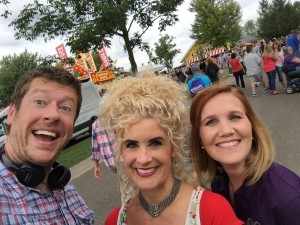 Shooting my State Fair segment 8-26-16